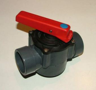 PVC Kugelhahn 2 und 3 Wege mit Rasterstellung - Vorschau 2
