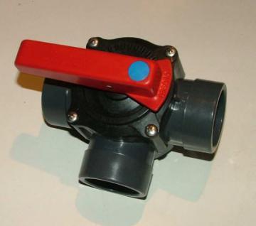 PVC Kugelhahn 2 und 3 Wege mit Rasterstellung