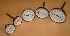 Zeigerthermometer - Bimetall incl. Tauchhülse