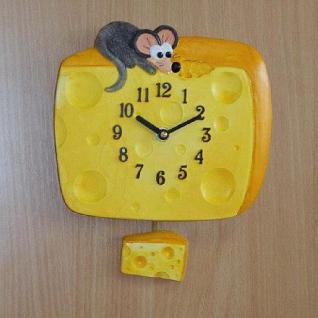 Pendeluhr Käse mit Maus