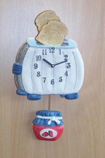 Pendeluhr Toaster mit Marmeladentopf