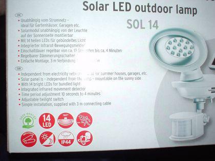 10 bis 80 LED Solar Strahler