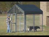 2, 4m x 2, 4m Hundezwinger + Trennwand