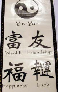 Temporary Tattoo, Abziehbild Chinesische Zeichen 1