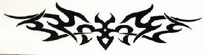 Abziehbild ,Steiß Tattoo 21
