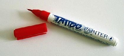 Tattoo Stift fürs Bodypainting, rot