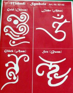 Mehndi-Symbole,Henna Schablone - Vorschau