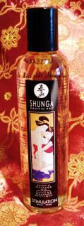 Shunga Massageöl Stimulation - Pfirsichduft - Vorschau