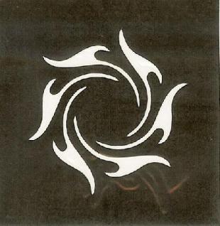 Henna Bodypainting Schablone , Mehndi Motiv 142
