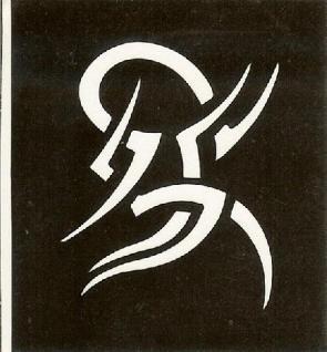 Henna Bodypainting Schablone , Mehndi Motiv 145
