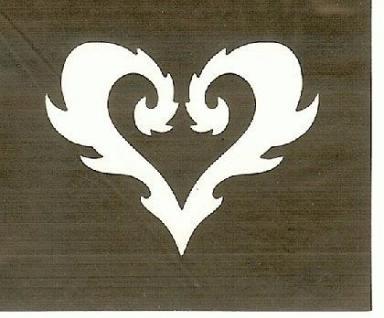 Henna Bodypainting Schablone , Mehndi Motiv 146 - Vorschau
