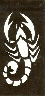 Henna Bodypainting Schablone , Mehndi Motiv 104
