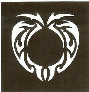 Henna Bodypainting Schablone , Mehndi Motiv 152 - Vorschau