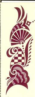 Abziehbild Henna Tattoo 1 - Vorschau