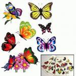 Temporary Tattoo, Abziehbild Schmetterlinge