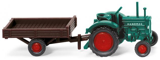 Wiking 095303 Traktor Hanomag mit Anhänger