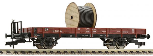 Niederbordwagen mit Kabelrolle