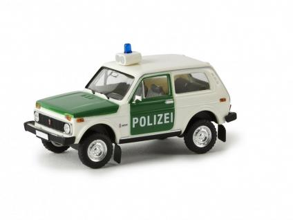 brekina 27214 lada niva polizei kaufen bei modelleisenbahnladen saase leuteritz gbr. Black Bedroom Furniture Sets. Home Design Ideas