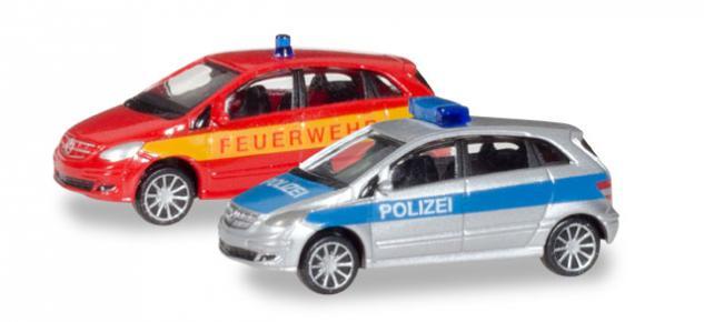 Herpa 066549 MB B Klasse Polizei Feuerwehr