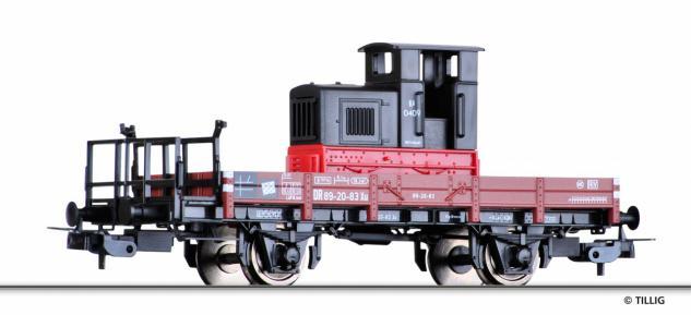 Tillig 76685 Güterwagen mit Feldbahnlok