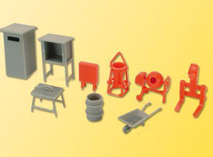 Kibri 38140 Deko-Set Baustellenzubehör