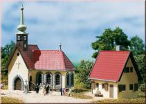 Auhagen 14461 Dorfkirche mit Pfarrhaus
