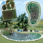 Busch 1210 Garten Teich-Set
