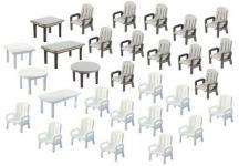 Faller 180439 Gartenstühle und Tische