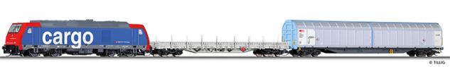 Tillig 01434 TT Startset mit Güterzug