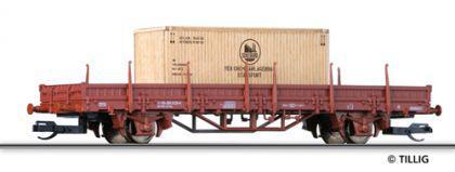 Tillig 14757 Niederbordwagen Ks mit Kiste