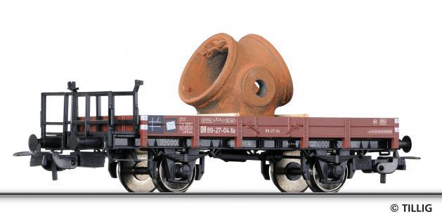 Tillig 76605 Niederbordwagen mit Gussteil