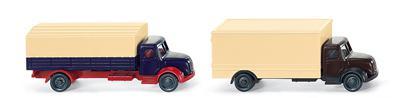 Wiking 94901 Pritschen- und Koffer LKW