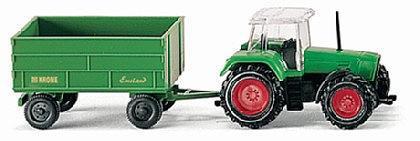 Wiking 096001 Traktor mit Anhänger
