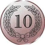 Emblem Jubiläum 10, 50mm Durchmesser