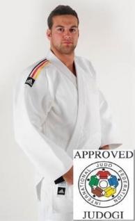 Judoanzug adidas Champion Nationalmannschaft IJF weiß