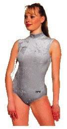 Fitness-Dress ohne Arm Farbe schwarz, Gr. L