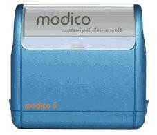 Stempel modico 5 Gehäuse metallicblau, Abruckgröße 63 x 24mm - Vorschau 1
