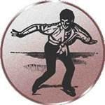 Emblem Eiskunstlauf, 50mm Durchmesser - Vorschau 1