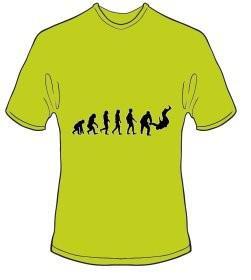 T-Shirt Evolution Judo Farbe kiwigrün - Vorschau