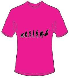 T-Shirt Evolution Judo Farbe pink 1