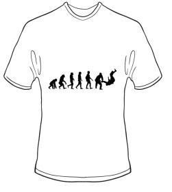 T-Shirt Evolution Judo Farbe weiss