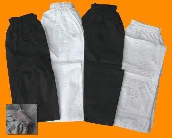 Kampfsporthose schwarz mit Bündchen