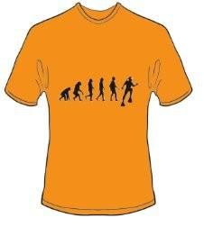 T-Shirt Evolution Tauchen Farbe orange