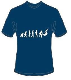 T-Shirt Evolution Judo Farbe navyblau - Vorschau 1