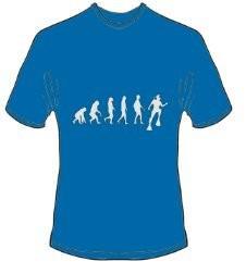 T-Shirt Evolution Tauchen Farbe royalblau