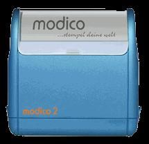 Stempel modico 2 Gehäuse metallicblau, Abruckgröße 37mm x 11mm - Vorschau 1