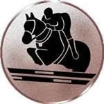 Emblem Springreiter, 50mm Durchmesser - Vorschau 1
