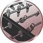Emblem Tischfußball, 50mm Durchmesser - Vorschau 1