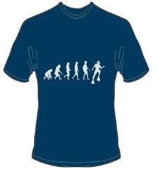 T-Shirt Evolution Tauchen Farbe navyblau