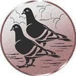 Emblem 2 Tauben, 50mm Durchmesser - Vorschau 1